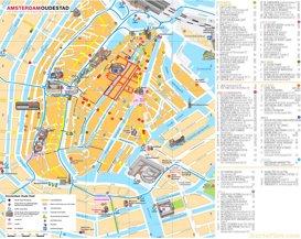 Touristischer Innenstadtplan von Amsterdam