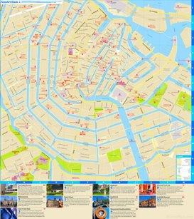 Touristischer stadtplan von Amsterdam