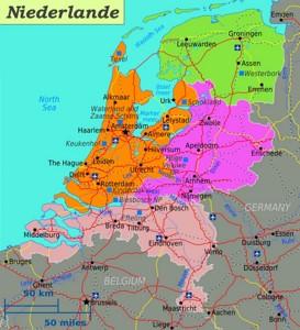 Straßenkarte von Niederlande