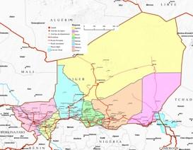 Große detaillierte karte von Niger