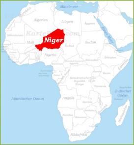 Niger auf der karte Afrikas