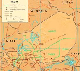 Niger politische karte