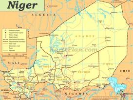 Straßenkarte von Niger