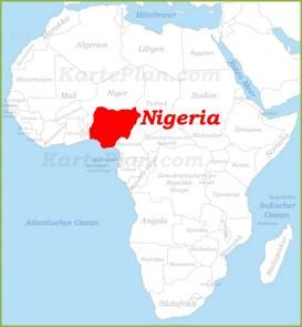 Nigeria auf der karte Afrikas