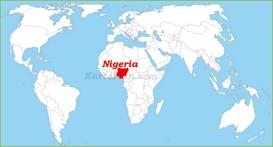 Nigeria auf der Weltkarte