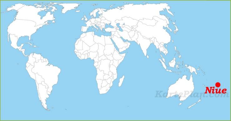 Niue auf der Weltkarte