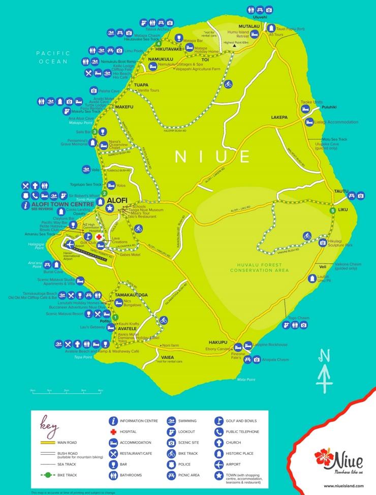 Niue touristische karte