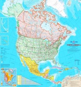 Große detaillierte karte von Nordamerika