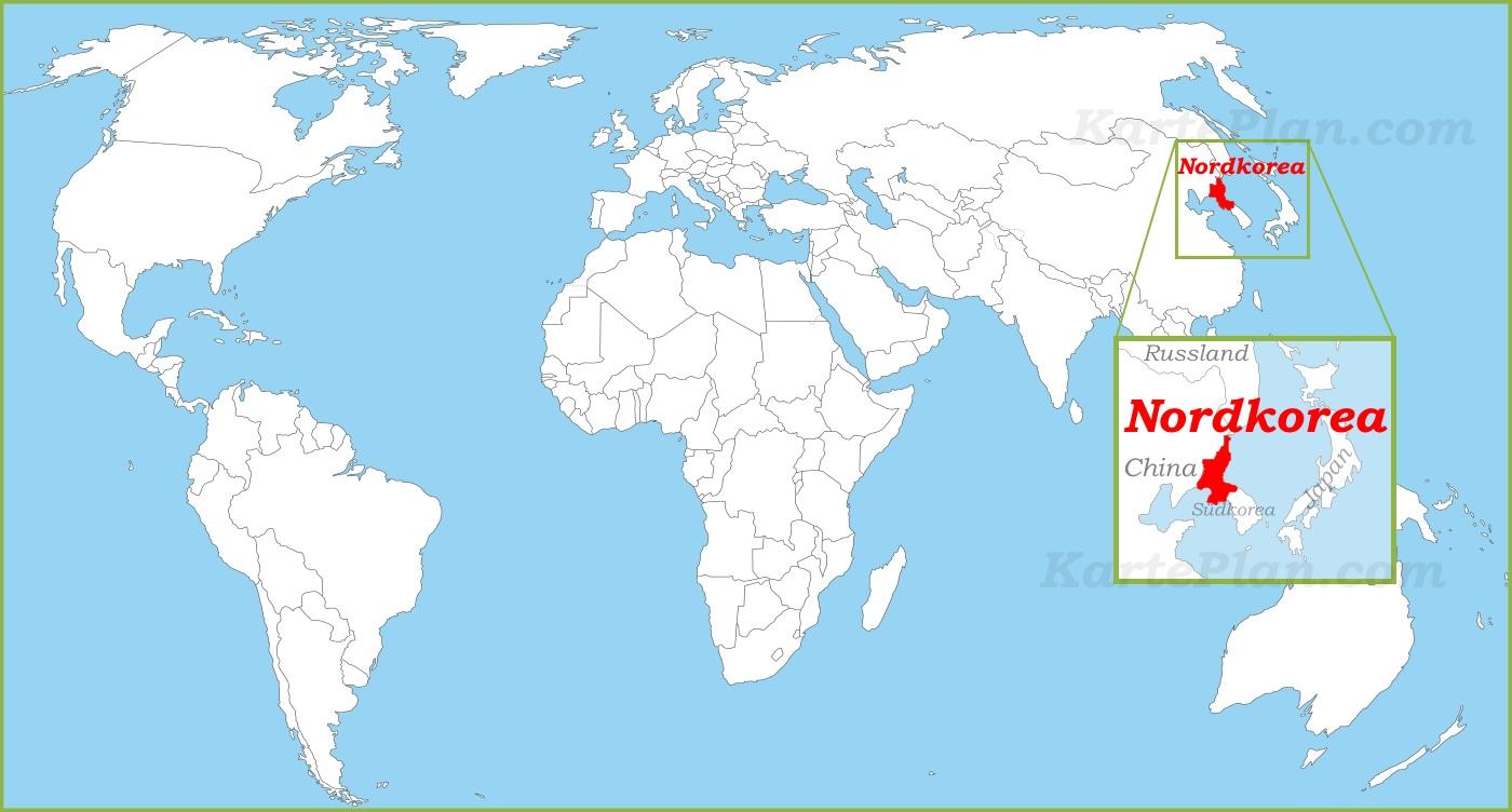 Nordkorea Weltkarte