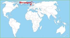 Norwegen auf der Weltkarte