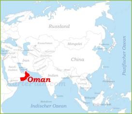 Oman auf der karte Asiens