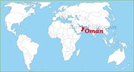 Oman auf der Weltkarte
