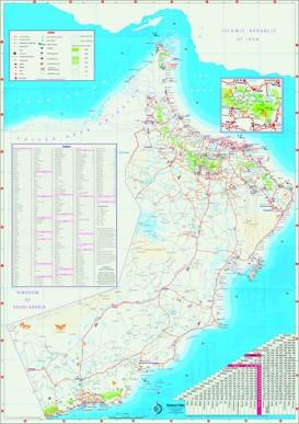 Oman touristische karte