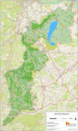 Straßenkarte von Burgenland