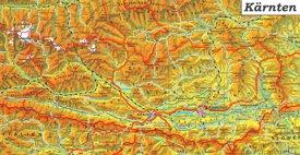 Detaillierte karte von Kärnten