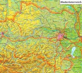 Detaillierte karte von Niederösterreich
