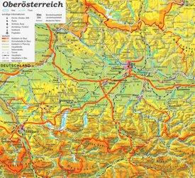 Detaillierte karte von Oberösterreich