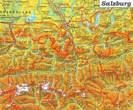 Detaillierte karte von Land Salzburg