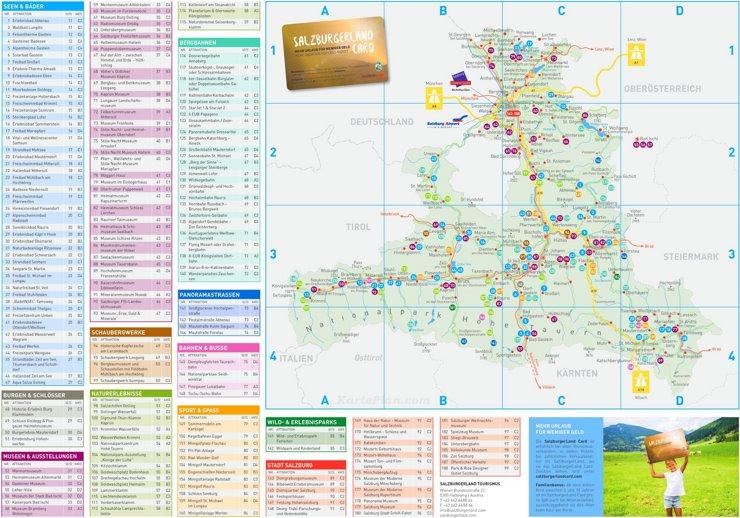 Land Salzburg touristische karte