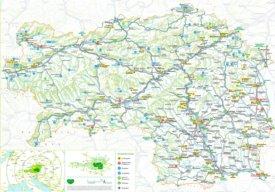 Steiermark touristische karte