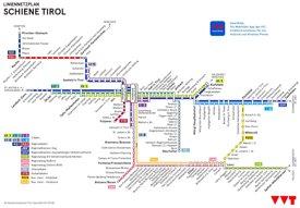 Schienennetzplan von Tirol