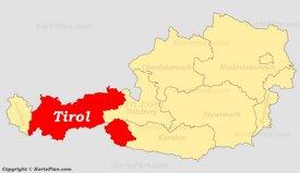 Tirol auf der Österreich Karte