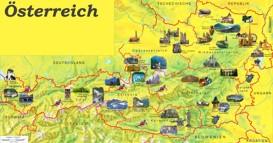 Österreich touristische karte