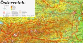 Physische landkarte von Österreich
