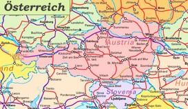 Schienennetz karte von Österreich