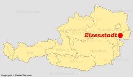 Eisenstadt auf der Österreich karte