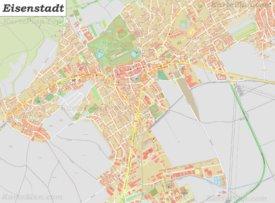Große detaillierte stadtplan von Eisenstadt