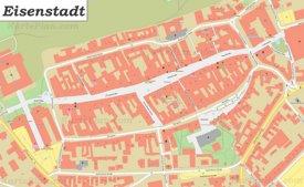 Karte von Eisenstadts Zentrum