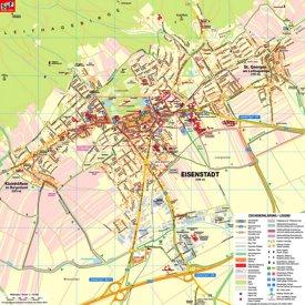 Touristischer stadtplan von Eisenstadt