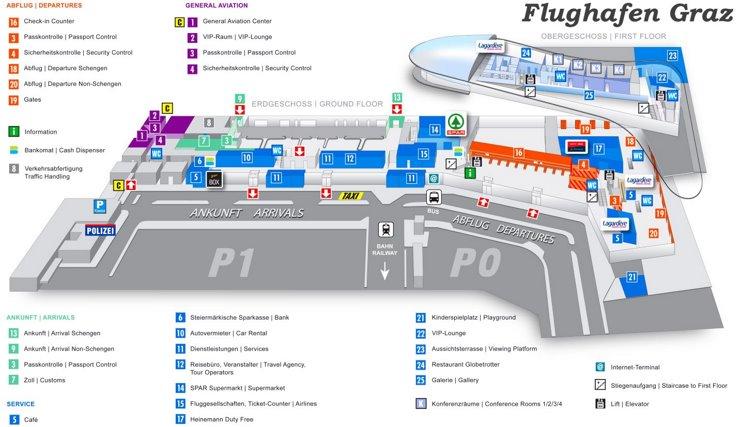 Flughafen Graz Plan