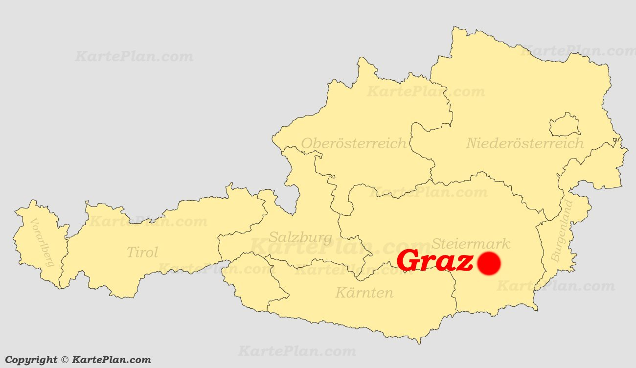 Karte Graz.Graz Auf Der Osterreich Karte