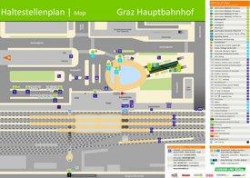 Graz Hauptbahnhof plan