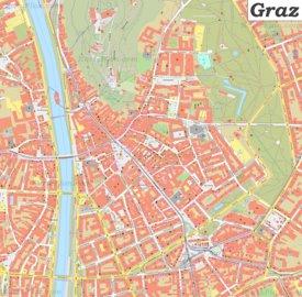 Karte von Graz Zentrum