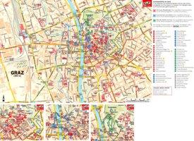 Touristischer stadtplan von Graz