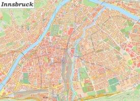 Große detaillierte stadtplan von Innsbruck