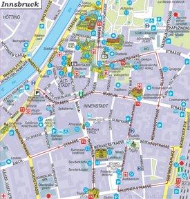 Innsbruck Innenstadtplan