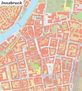 Karte von Innsbrucks Zentrum