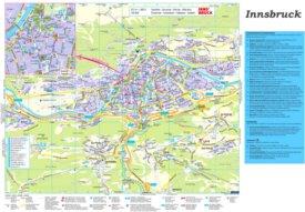 Touristischer stadtplan von Innsbruck