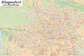 Große detaillierte stadtplan von Klagenfurt