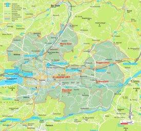 Region Klagenfurt Karte