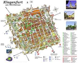 Stadtplan Klagenfurt mit sehenswürdigkeiten