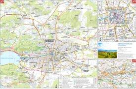 Touristischer stadtplan von Klagenfurt