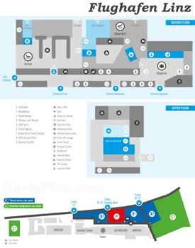 Flughafen Linz Plan