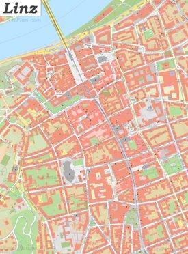 Karte von Linz Zentrum