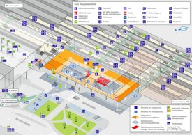 Linz Hauptbahnhof plan