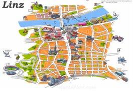 Linz Innenstadtplan